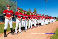 Victoria Eagles vs Parksville Royals, 2016 Home Opener, April 9, 2016