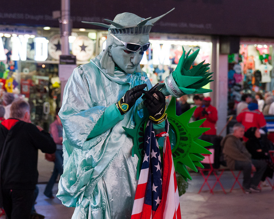 Statue of Liberty, Times Square, New York City
